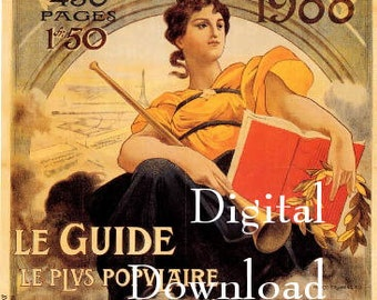 Instant Digital download.Paris exposition . Rare.frame, gift price  tags,,use in decoupage, collage,scrapbooks