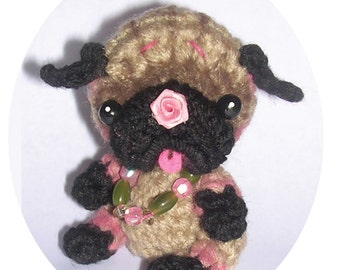 REVISED Pug Dog Puppy Milk Cap Cutie Toy or Doll AND POTHOLDER Digital Crochet pdf Pattern