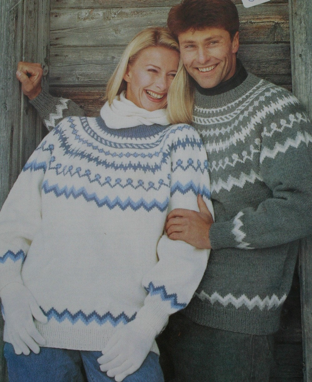 Knitting Patterns For Nordic Sweater : Nordic Sweater Knitting Pattern Men Women Peer Gynt 1709