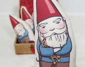 ON SALE! Knitting Gnome pillow/plush