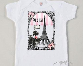 Paris Shirt Vintage French Poodle Tank Tee Custom Size Retro Eiffel Tower