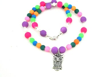 Kids Owl Necklace, Owl Jewelry Canada, Kids Jewelry, Owl Jewelry, Owl Charm Necklace, Child Jewelry, Childrens Jewellery, Girls Necklace