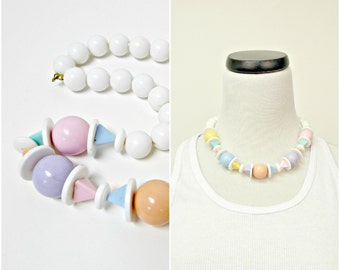 CHUNKY CANDIES plastic beads choker necklace
