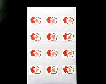 Japanese Stickers Plum Blossoms Flowers Washi Paper (S211) Traditional Design Stickers