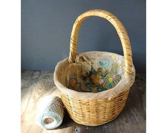 Flash Sale - Antique Sewing Basket - Antique Easter Basket