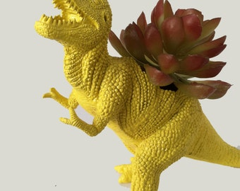 EXTREMELY LIMITED!!! Unique Gift Dinosaur Planter Yellow TREX Great Dorm Office Home Decor Gift for Get Well  Boss' Teachers