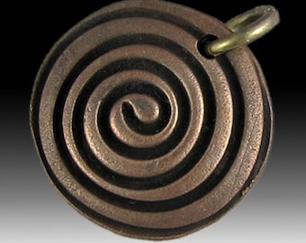 CS12 Hollow Spiral Charm by BrackenDesigns