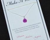 Purple Flower Wish Necklace - Buy 3 Items, Get 1 Free