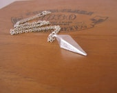 Silver Point Pendulum Geometric Shape Charm Necklace by Alice Wears Gold
