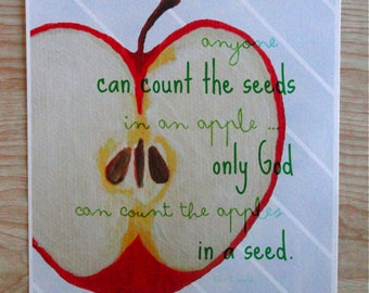 Count the Apples in a Seed Quote (8.5 x 11 Print)