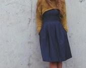 mustard yellow chunky cropped sweater shrug / snug shrug / iLE AiYE /