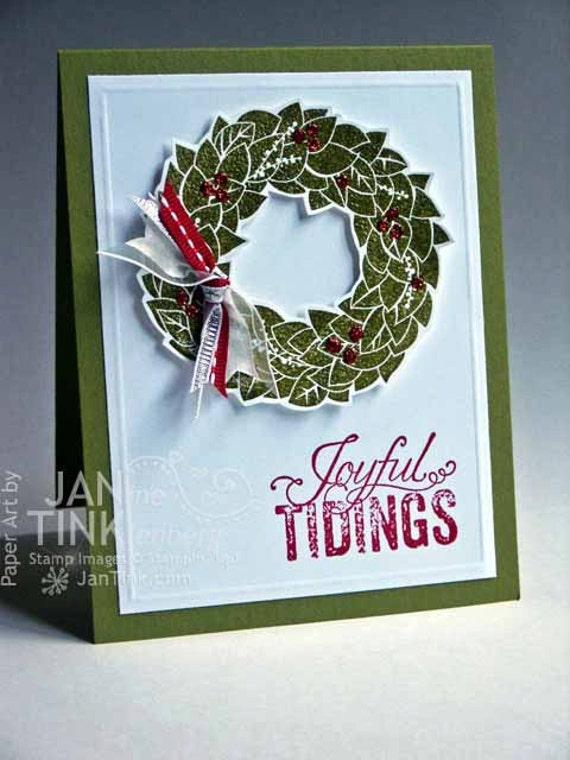 Items similar to joyful tidings merry christmas elegant for Elegant homemade christmas cards