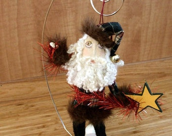 Primitive Small  Santa Claus Doll PDF E Pattern Instant Download