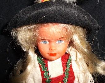 Vintage Swiss Girl Doll