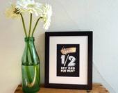 "Special 1/2 My Bed 5""x7"" gold foil stamped print"