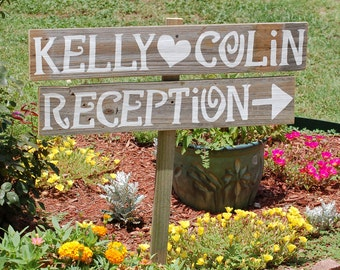 Wedding Reception Sign, Reception Decorations, Custom Wood Sign, Rustic Wedding Decor, Wood Wedding Signs, Old Barn Reception Decor,  Names