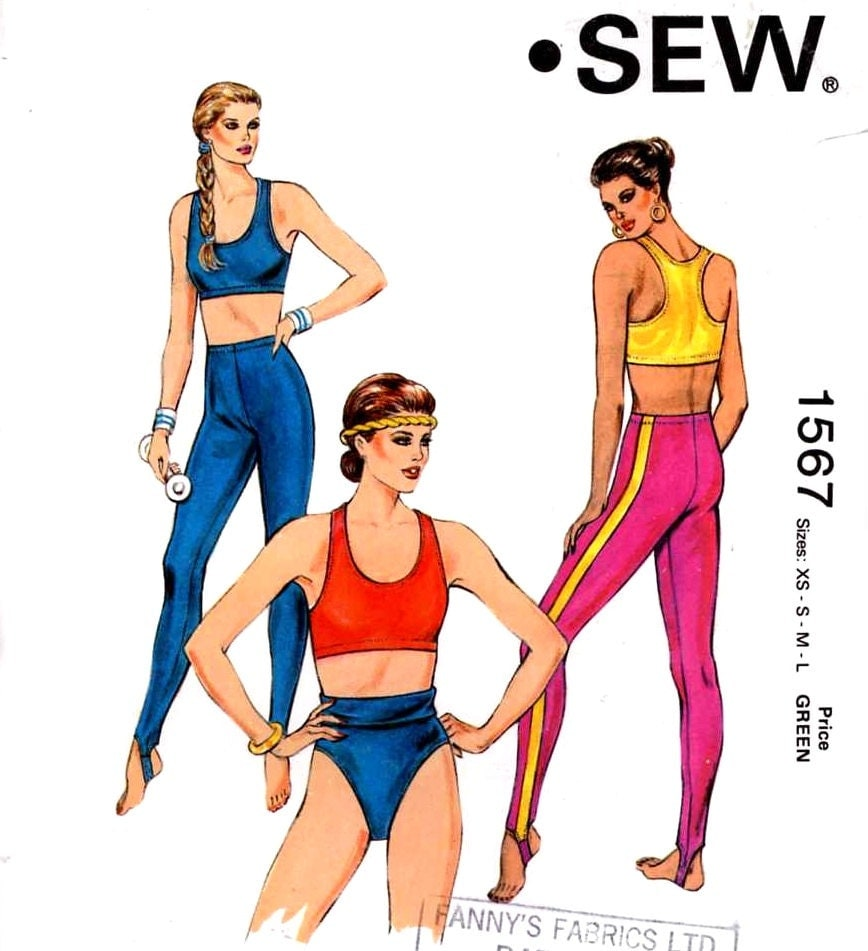 Athletic Exercise Tops And Shorts Sewing Pattern Yoga Gymnasts