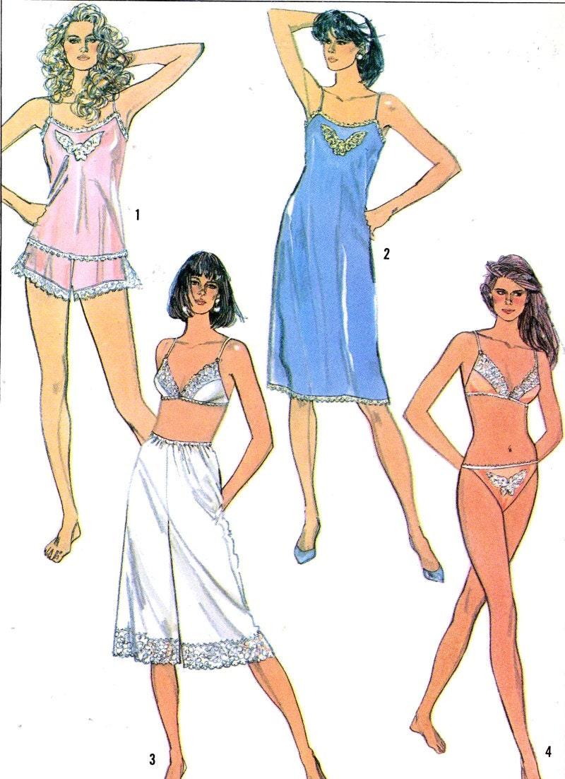 80s womens lingerie bra slip camisole panties bikini panties