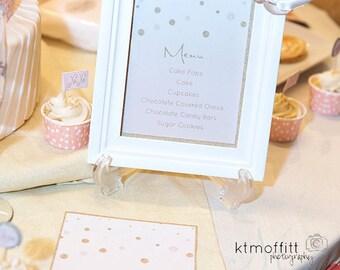 Blush Pink and Gold Bridal Shower Printable Invitation