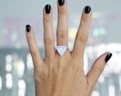Fake Engagement Adjustable Ring