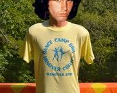 vintage 80s t-shirt DANCE CAMP diva hanover college bridget glitter tee shirt Large Medium indiana
