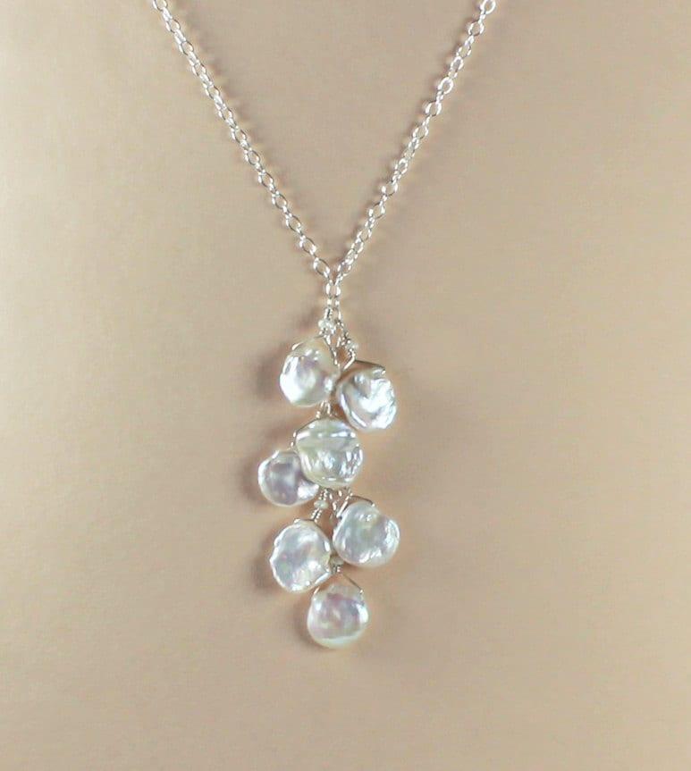 Keshi Pearl Necklace: Beach Wedding Jewelry Beach Wedding Necklace Keshi Pearl
