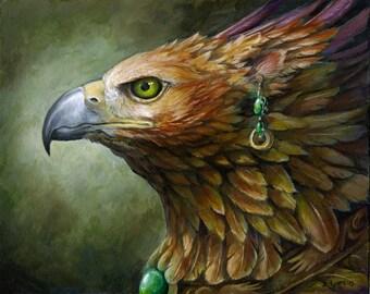 Akhraiuu - Fantasy Gryphon Print