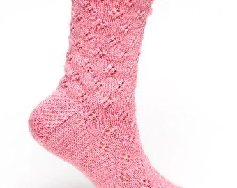 PATTERN ONLY: Eyelet Lace Socks to Knit