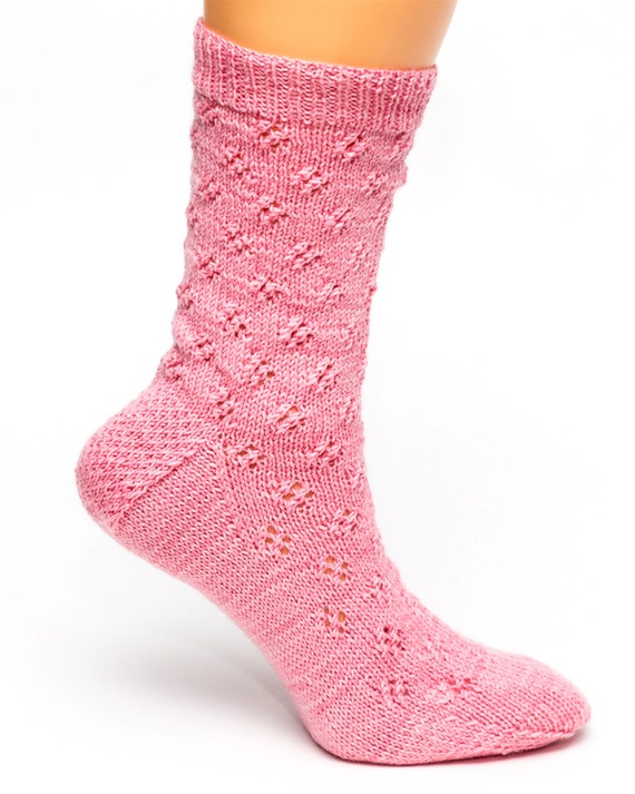 Knitting Patterns Using Eyelet Lace : PATTERN ONLY: Eyelet Lace Socks to Knit