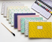 Watercolor Pad - Travel journal - Wirebound notebook - Custom cover