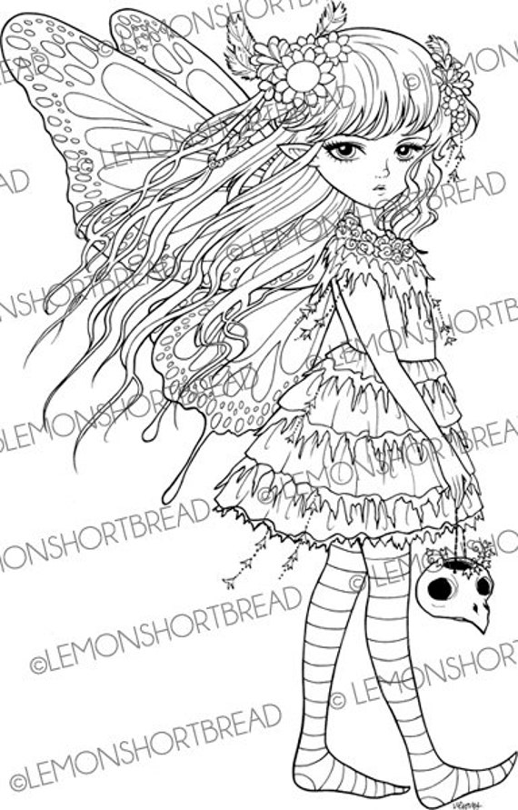 punk faries coloring pages - photo#21
