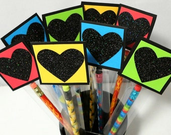 Kids Pencil Valentines Cards - Kids Personalized Pencil Valentines, Valentine Favors, Kids Classroom Valentines, Boys Valentines