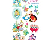 Disney Alice In Wonderland Sticker (2 Packs) Great for Scrapbooking • Party Favor • Card Making • Decorating • Alice Birthday (53-00005)