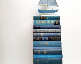 Nautical Wedding, 25, Book Lot, Beach Wedding, Book Theme Wedding, Dusk Blue Books, Classic Blue, Book Collection, Photo Prop, Kids room