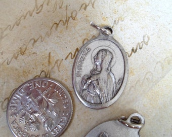 St. Monica Medal, Patron Saint of Mothers with Drug or Alcohol Addicted Children, Troubled Teens, Catholic Jewelry Supplies