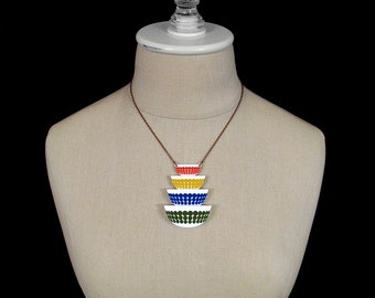 Pyrex Stacked Vintage Bowls Necklace - Laser Cut Acrylic (C.A.B. Fayre Original Design)