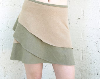 Organic Cotton & Hemp Layred Wrap Skirt