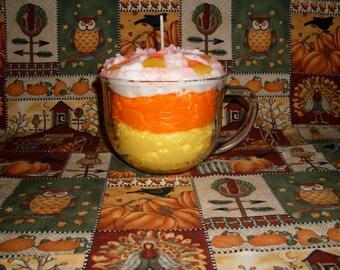 Candy Corn Buttercream Grubby Glass Mug Candle