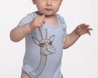 Elliott the Giraffe in Baby Blue