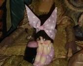 Kewpie Doll Bathing Beauty Pincushion Vintage Planter Repaint Pink