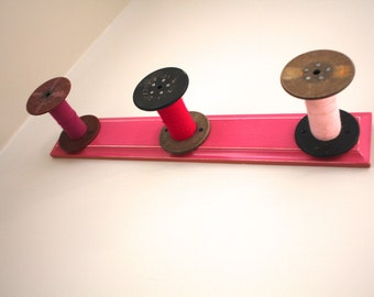 Pink Storage Rack Industrial Spools
