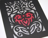 PC02 Key to My Heart - Birds - Hand Papercutting Pattern - Pattern - Digital Download