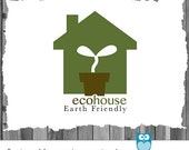 INSTANT DOWNLOAD OOAK Premade Watermark Logo Template Design for Eco Friendly Home Small Business