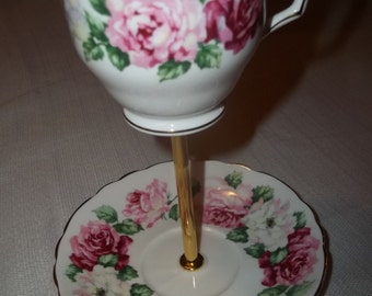 Alice's Tea Cup - China 2 Tier Serving Dish - Crudites - Party Tray - Hors doeuvres - Centerpiece