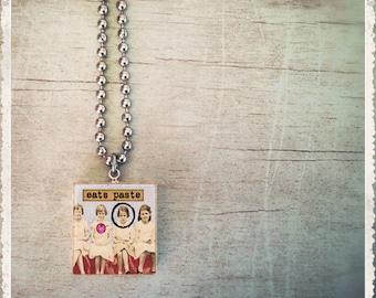 Scrabble Game Tile Jewelry - Girlfriend Series - Eats Paste - Scrabble Pendant Charm - Customize