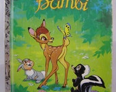 50% off clearance sale! Walt Disney's Bambi, vintage Little Golden Book