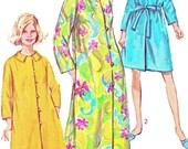 1960s Womens Caftan Robe Pattern Simplicity 7958 Jiffy Mandarin Collar Long Caftan or Short Robe Vintage Sewing Pattern Bust 31 1/2 - 32 1/2
