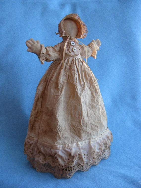 Cloth Doll E-Pattern Rustic 14in Primitive Prairie Doll epattern