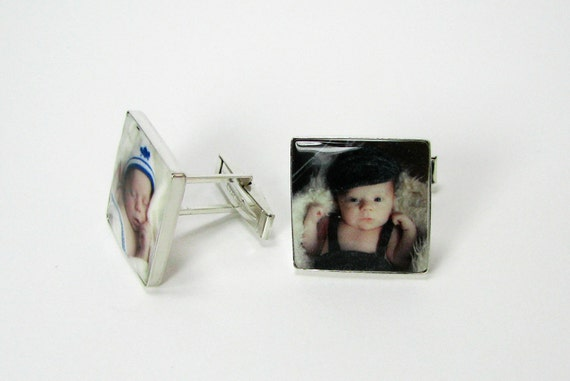 Sterling Silver Photo Cuff Links - A11
