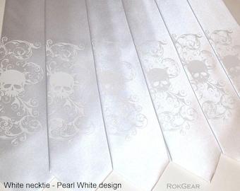 RokGear Necktie - Distress Skull necktie print - Men's Microfiber tie Custome rcolors print to order